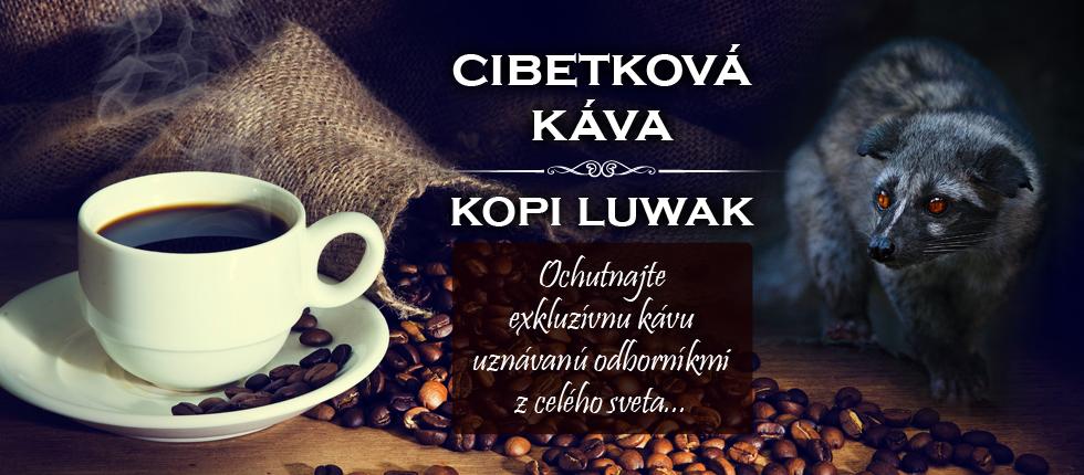 cibetkova kava, kopi luwak coffee