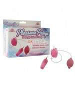 Pleasure Pump- Butterfly Clitoral Pump pink