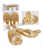 Zlaté papuče s penisom