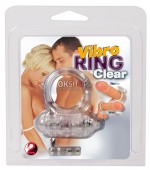 Vibro ring Clear Silicone