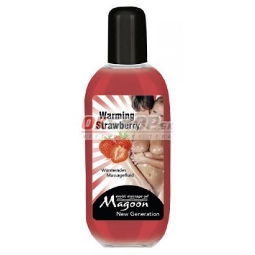 Masážny olej WARMING Strawberry 100 ml